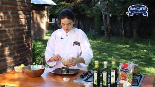 Timbal de jaiba con ensalada rusa