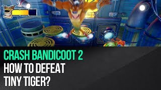 "This video shows how to defeat Tiny Tiger in ""Crash Bandicoot 2: Cortex Strikes Back"" for the PS4. The boss fight takes place in an area with nine levitating platforms. Start jumping on them and the boss will follow you. Some of the platforms will start pulsing in red and this means they'll soon drop. Stop on one of them and leave it at the last second. The boss will fall along with the platform. That's not all, because more platforms will soon drop and only three will be safe so get to one of them as soon as possible. The next two phases of the battle are very similar, but after you've tricked Tiny Tiger you will have less safe platforms to choose from in order to survive the round (two and only one respectively). Outsmarting Tiny Tiger three times and surviving platform drops will end the fight.► MORE GAME GUIDEShttp://guides.gamepressure.com/► FOLLOW UShttps://twitter.com/gamepressurecomhttps://www.facebook.com/gamepressurecom"