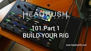 """http://www.headrushfx.comPart 2: Rig Configuration 101 - https://youtu.be/WmwUy6_ODsAPart 3: The Looper 101 - https://youtu.be/WokGkj-mRKsThis video gives the viewer a brief 101 demonstration on how to put together a virtual 'Rig' or pedalboard. Other general functions of the HeadRush Pedalboard can be viewed via the links above. The HeadRush Pedalboard is a serious modelling and multi-effects workhorse based around the Eleven HD Expanded code. It offers one of the most advanced, easiest and intuitive onboard interfaces I've ever seen and is road ready in all aspects including construction and I/O facilities. At the time of writing the HeadRush offers over 30 amp models, 15 cabinet models, 10 microphone models, 6 distortion stomps, 8 rotary sims, 5 types of dynamic/eq effects, 11 modulation effects, 7 types of reverb and delay effects, 5 expression pedal effects and the ability to import third party cabinet Impulse Responses. If you're looking to get into a modelling and multi-effect solution for your gigs, bedroom, studio or just plain fun, you should take a close look at the HeadRush when making your choice. Today's tools: Guitar: 2016 Music Man Albert Lee HH (stock).Cables: Goodwood Audio and ProvidenceMic: Samson Airline77 (me)Camera: Canon 60D (HeadRush) and Nikon D5100 (me)Soundcard: AVID Mbox Pro 3Computer: Apple iMac 27"""" i7 3.4 GHz 16 GB RAMSoftware: Logic Pro X, Waves L3-16 Limiter (to keep levels in check at output), Apple Final Cut Pro X (video editing and Youtube compression).A thousand thank you's to Nick Mitchell, Clint Chin-Quan and all at Electric Factory Australia. Visit: https://www.elfa.com.au/"""