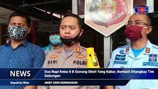 DUA NAPI KELAS II B GUNUNG SITOLI YANG KABUR, BERHASIL DITANGKAP TIM GABUNGAN (HARIANSIBER TV)