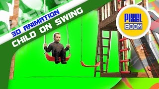 Copyright PixelBoom http://pixelboom.it/shop/green-screen/child-swing-3d-mode... DOWNLOAD HD Video 1080p and ...
