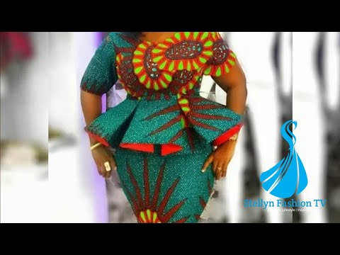 Stylish and Gorgeous Ankara/Lace Asoebi Styles for creative Ladies: 2019 Ankara Collection