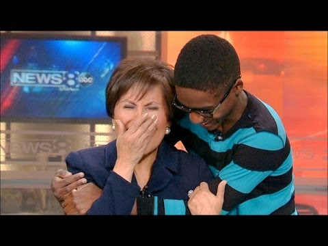 Adopted child surprises the anchor that found him a family!  Get the Kleenex ready!