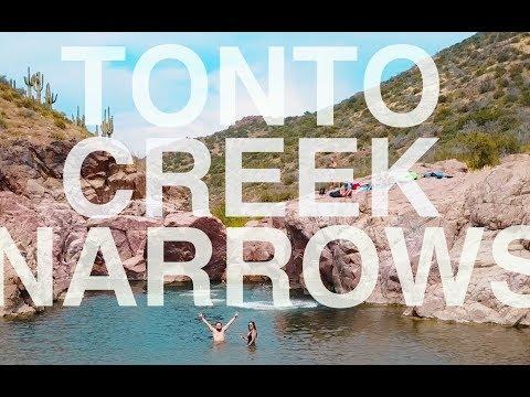 Summer fun at Gisela Arizona -- Cliff jumping at Tonto Narrows