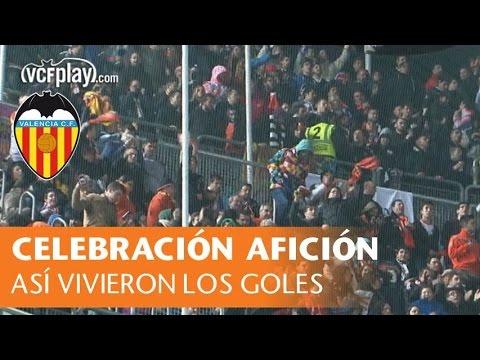 Así celebraron los miles de valencianistas en Elche los goles del 0 a 4 del Valencia CF