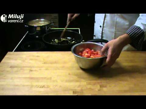 Špagety s olivami a kapary