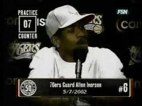 Allen Iverson talks about PRACTICE.