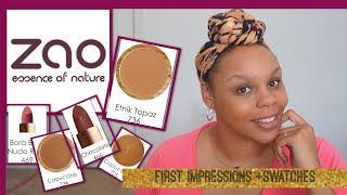 HEY, DOLLS READ ME! #MAKEUPFORWOC #GREENBEAUYWOC #greenbeautyPurchase samples here (non-Affilate link)- http://www.zaoorganicmakeup.com/index.php?route=product/category&path=62Laws Of Nature Foundation: http://www.lawsofnaturecosmetics.com/store/p2/foxy-finish-mineral-creme-foundation (NOT AN AFFILIATE LINK) **COUPON CODE: MALIKA 20% -I'M NOT RECEIVING COMMISSION, This code is for your use as well as mine.Let's stay Connected!! Social Media Facebook:https://www.facebook.com/Naturally-Malika-910565045770326/?ref=bookmarksInstagram&Snapchat@Malikalovesshttps://www.instagram.com/malikalovess/Google Plus:https://plus.google.com/+MalikaLoveSubscribe:https://www.youtube.com/channel/UCICL...For business only:Bookmalikalove@gmail.com!!!!!!!Currently, I have no P.O. BOX !!!!!!!Want to do a video collaboration?Contact me via any of my social media outlets or email.Try Honest Beauty: https://www.honestbeauty.com/?share=9... (REFERRAL link) Have you tried ebates? join now and get money back when you sign up through my referral link! (REFERRAL Link)http://www.ebates.com/rf.do?referreri...(FTC Disclaimer: This video is not sponsored, all views are my own. I purchased all products with my own money unless otherwise specified in the upper description or in the video. Links that are affiliate links will be stated in quotation marks by the links. If there is an affiliate link that means that I receive a small commission when you purchase through my link. All my links are safe. I would never put up affiliate links without allowing you to know. This also goes for coupon codes. However, some coupon codes I provide do not provide me with a commission and I will always state if they do or don't by the coupon code. Some companies give you coupon codes, as Laws Of Nature Cosmetics did for me (MALIKA) but did not offer me any commission, they only allowed me to use the code to get the same percentage off you get, when purchasing their products. Thank you for reading this and continuing to support me.)Music: n/a