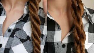 прическа коса жгут