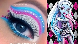 Monster High's Abbey Bominable Makeup Tutorial - YouTube