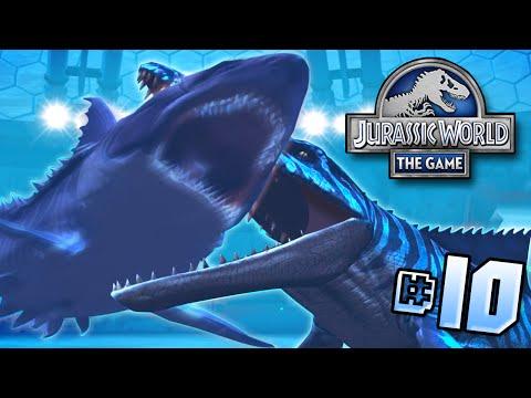 Mosasaur Vs Megalodon!!    Jurassic World - Lagoon Series - Ep 10 HD