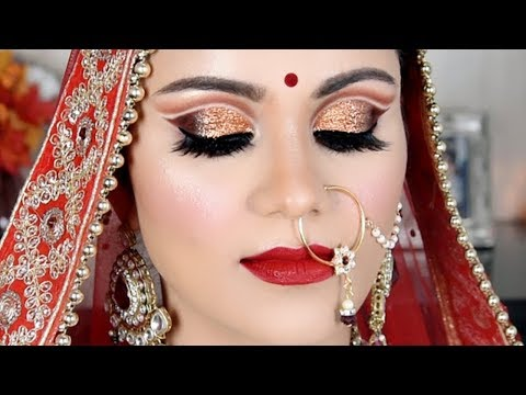 Video INDIAN BRIDAL Makeup In Hindi| Double Cut Crease Look |BeYourself Channel download in MP3, 3GP, MP4, WEBM, AVI, FLV January 2017