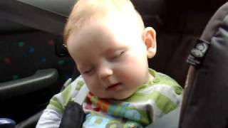 Cute Baby Fighting Sleep