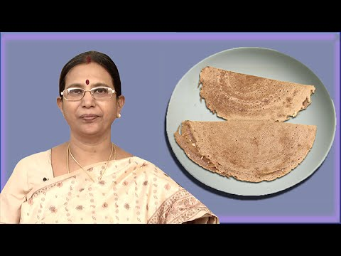 Ragi Dosa | Mallika Badrinath  | Diabetic and healthy Indian Recipes