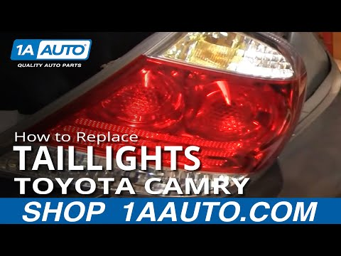 How To Install Repair Replace Broken Taillight Toyota Camry 02-06 1AAuto.com