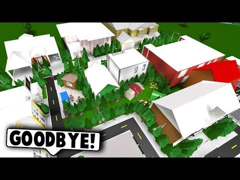 DELETING MY MILLION DOLLAR TOWN! (Roblox Bloxburg) Roblox Roleplay