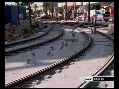 Travaux de raccordement des lignes T1 et T2 du tramway de Casablanca 2