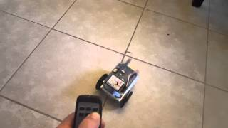 The first thing I wanted to try with the Arduino shield robot was using the remote IR control library. Visit HackerSpaceTech http://www.hackerspacetech.com M...
