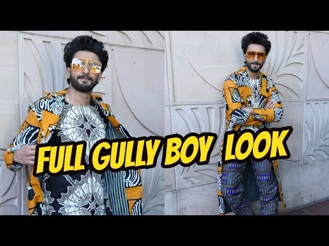 Ranveer Singh Spotted Promoting His Film Gully Boy