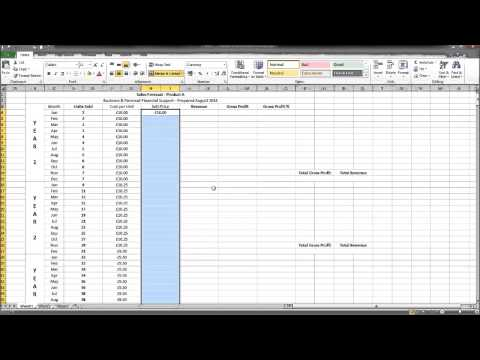 How to Create a Sales Forecast using Excel - Part 2 - How to Create a Business Plan