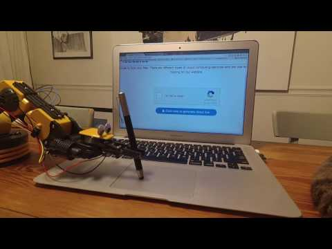 A Robotic Arm Successfully Beats an I Am Not a Robot CAPTCHA Using a Stylus on the