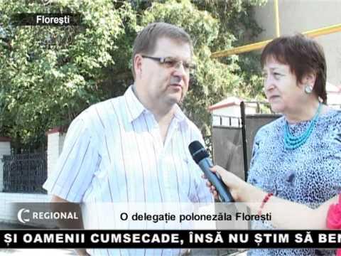 O delegatie poloneza la Floresti