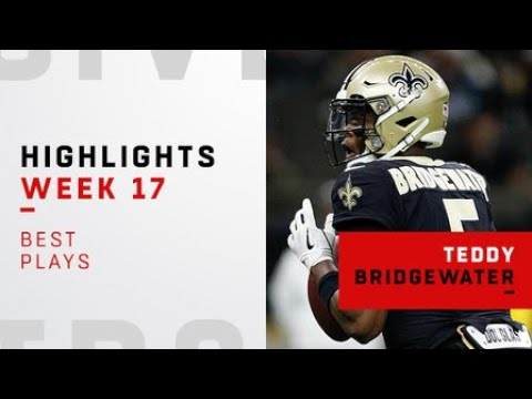 Best plays from Teddy Bridgewater's first start with Saints   Week 17