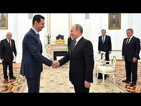 Башар Асад посетил Москву и встретился с Владимиром Путиным