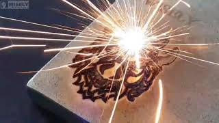 Wisely 20w handheld portable fiber laser machine youtube video