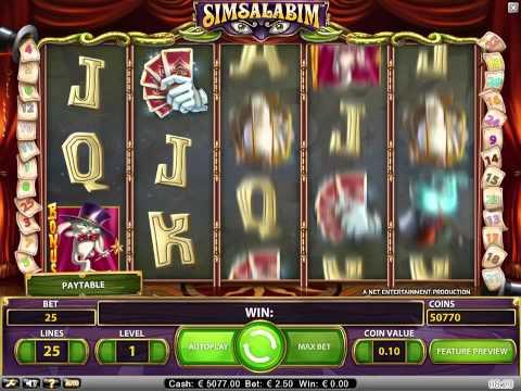 Simsalabim slot - NetEntCasinos