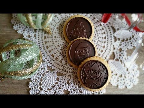 biscotti di natale con placchetta di cioccolato - la videoricetta