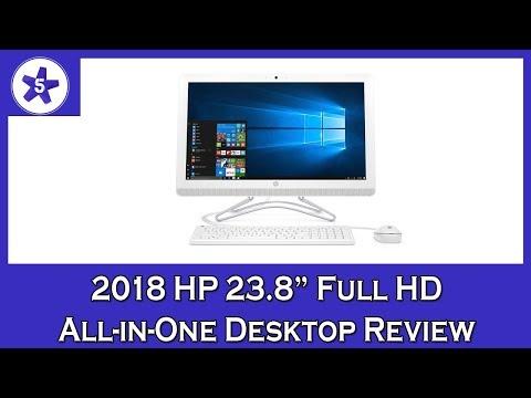 2018 HP 23.8 Full HD All-in-One Desktop Review: AMD A9-9400 Processor, 8GB RAM, 2TB HDD, Windows 10