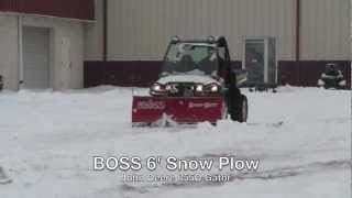 9. BOSS 6' Snow Plow on a John Deere 855D Gator Utility Vehicle