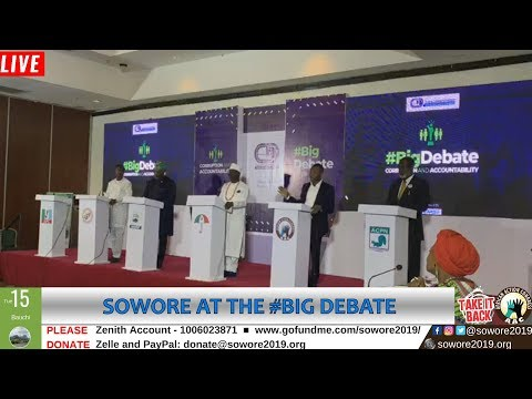 Download LIVE: Omoyele Sowore speaking at the #Bigdebate Center for Democracy Development #TakeItBack