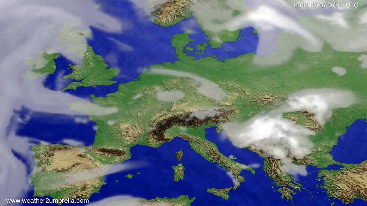 Cloud forecast Europe 2018-07-03
