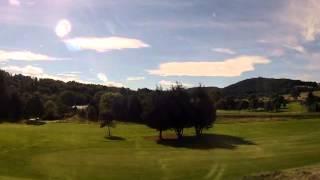 Altocumulus Lenticularis (Mountain Wave) clouds over Inverness (Scotland) golf course
