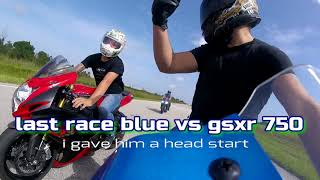 5. 2015 gsxr 600 vs  gsxr 1000 vs kawasaki zx636 epic street battle