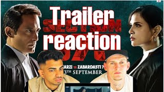 Section 375 Official Trailer Reaction | BB Reactions | Akshaye Khanna, Richa Chadha,Ajay Bahl