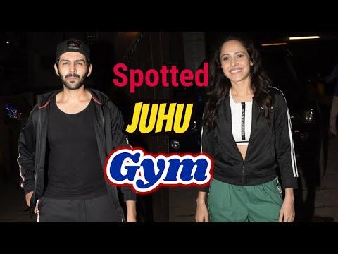 Kartik Aaryan & Nushrat Bharucha Spotted Juhu Gym