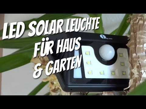 LED Solar Leuchte für Haus und Garten im Test von 1by one Review