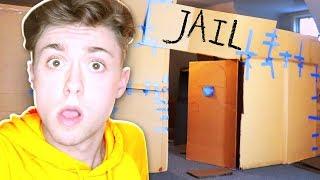 24 HOURS OVER NIGHT BOX FORT PRISON ESCAPE ROOM!