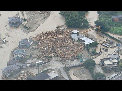 Καταιγίδες «άνευ προηγουμένου» πλήττουν τη ΝΔ Ιαπωνία