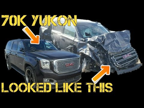 Near New Yukon HIDING MAJOR DAMAGE At Auto Auction