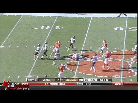Tajh Boyd vs Wake Forest 2013 video.