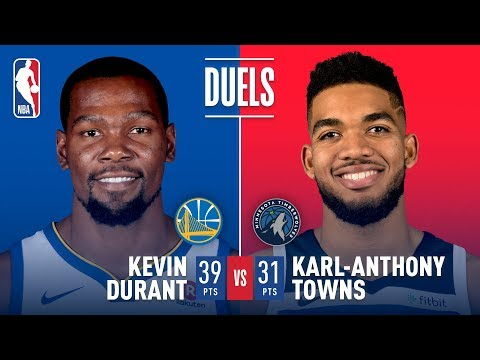 Karl Anthony Towns and Kevin Durant Duel in Minnesota (видео)