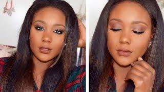Glam Fall/Autumn Makeup Tutorial | Brown Lips  + Fall Smokey Eye Tutorial 2015