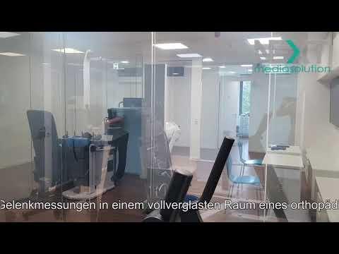 Schaltbare Folie Grau Untersuchungsraum Gelenkzentrum