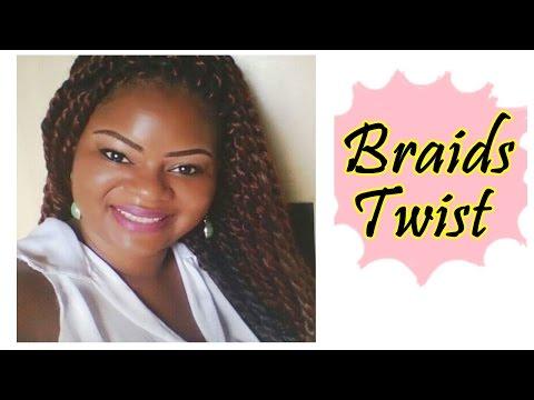 Braids Twists (Tranças de dois com fibra) TUTORIAL