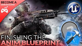 In today's video we check out how we can finish up our animation blueprint, setting up the conditioning and logic to determine the player's speed and direction and then feed it into our animation blendspace.By the end of this video we'll have a completely custom character set up for our FPS game inside Unreal Engine 4.Unreal Engine 4 Beginner Tutorial Series:https://www.youtube.com/playlist?list=PLL0cLF8gjBpqDdMoeid6Vl5roMl6xJQGCBlueprints Creations Serieshttps://www.youtube.com/playlist?list=PLL0cLF8gjBpoojQ7YqsSsxycBe5S3ikkV► Next VideoIn the next video we'll continue to bring our shooter game to life.♥ Subscribe for new episodes weekly! http://bit.ly/1RWCVIN♥ Don't forget you can help support the channel on Patreon! https://www.patreon.com/VirtusEduVirtus Learning Hub // Media● Facebook Page - https://www.facebook.com/VirtusEducation●Twitter Page - http://www.twitter.com/virtusedu● Website - http://www.virtushub.co.uk