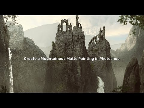 How to Create a Mountainous Matte Painting in Photoshop   BabArt iR (видео)